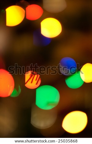 Lens bokeh abstract background