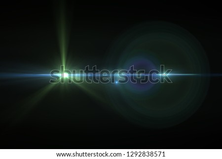 Lens bright background for design. Easy Eferk. Glowing line. Brilliant flashes. Fantastic lens. Holographic image. Energy ray Raster image. #1292838571