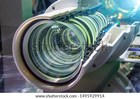 Lens camera, lens in cross-sectional structure of the optical technology