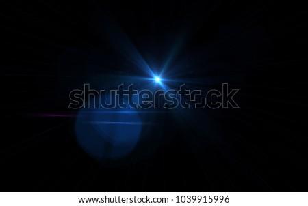 Lens Flare Blue Light #1039915996