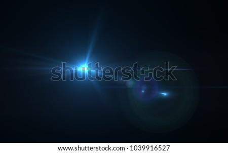 Lens Flare Blue Light #1039916527
