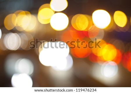 lens flare bokeh in red yellow and white
