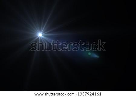 lens flare effect on black background