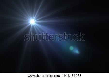 lens flare effect on black blackground Сток-фото ©