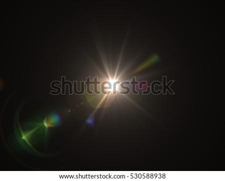 Lens flare light - Shutterstock ID 530588938