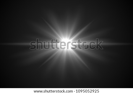 Lens flare light on back background.