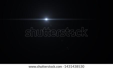 Lens flare light on black background