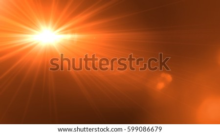 Lens flare  light over black background. easy to add overlay or screen filter over photo #599086679