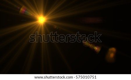 Lens flare light over black background. easy to add overlay or screen filter over Photos - Shutterstock ID 575010751