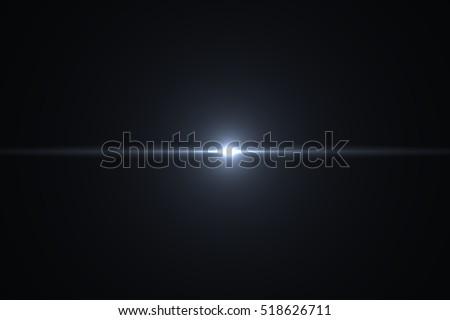 Lens Flare ,Sun Flare on black background object design. #518626711
