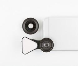 Lens kit for cell phone camera