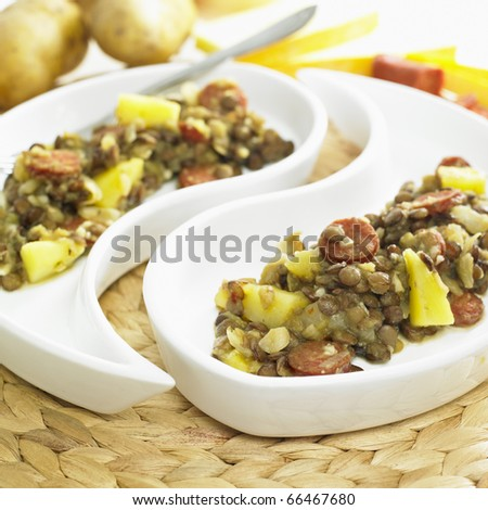 lentil with potatoes and chorizo