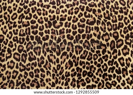 Leopard effect, fabric pattern, Background sample #1292855509