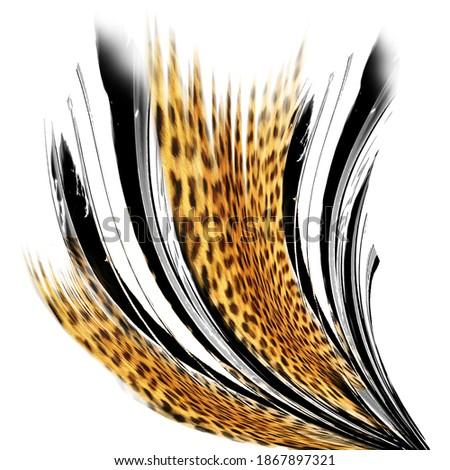 Leopard pattern, abstract lines pattern Сток-фото ©