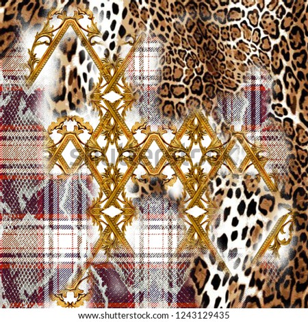 Leopard Pattern. Leopard baroque Print. Animal print