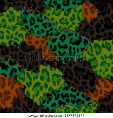 Leopard Pattern. Leopard baroque Print. Leopard Texture