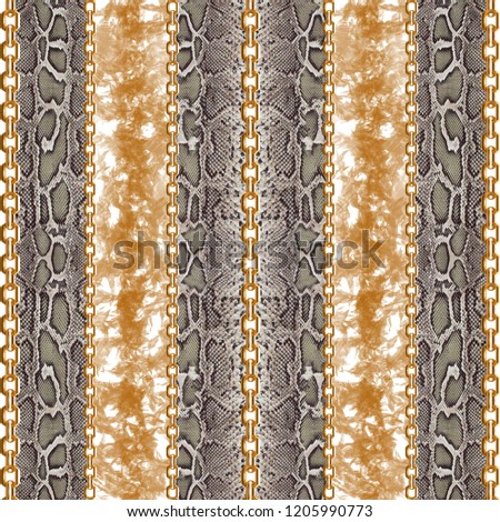 Leopard Pattern, Leopard  Print, Animal print, baroque, chain