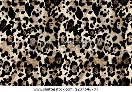 leopard pattern skin fur