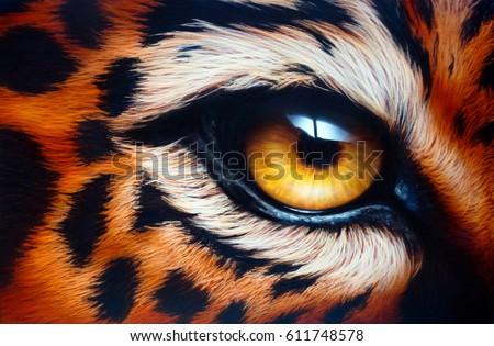 Leopard's eyeAirbrush painting.