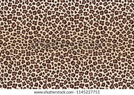Leopard spots fur imitation, horizontal texture. Raster version
