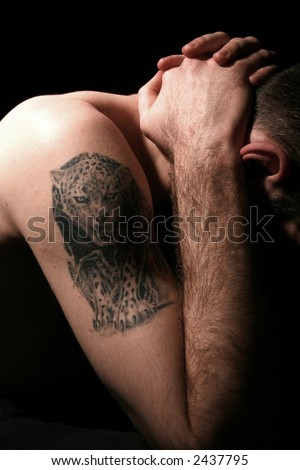 stock photo : leopard tattoo
