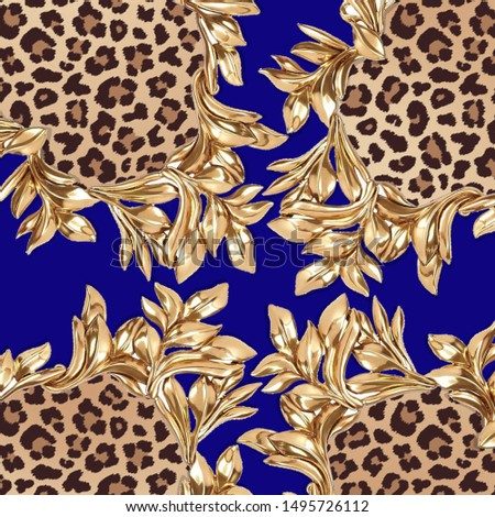 leopard textile pattern; textile; pattern; fabric; fashion; gold; animal texture; decorative; elegance; art; design; decor; surface