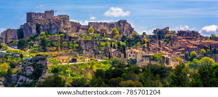Les Baux-de-Provence village, spectacular located in Alpilles mountains, Provence, France Zdjęcia stock ©