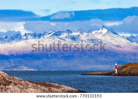 Shutterstock Les Eclaireurs Lighthouse is located near the Ushuaia city in Tierra del Fuego in Argentina.