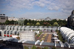 Les Halles garden in Paris