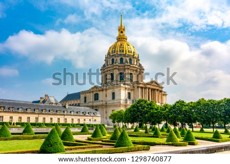Les Invalides (National Residence of the Invalids) in Paris, France Zdjęcia stock ©