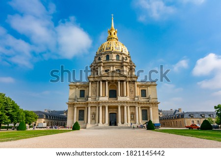 Les Invalides (National Residence of the Invalids) in Paris, France Stockfoto ©