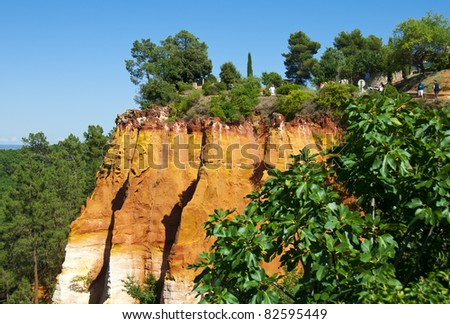 "Les Ocres du Roussillon also know as ""The little Colorado"""