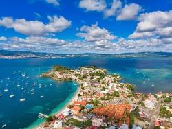 Les Trois Ilets, Martinique, FWI - Aerial View to Anse Mitan and La Pointe
