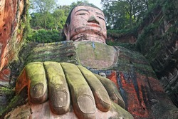 Leshan Giant Buddha is the largest stone Buddha in the world, 71 metres (233 feet) tall; Unesko World Heritage Site. Canon 5D.