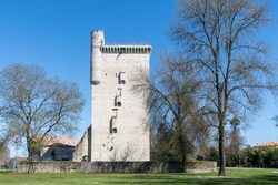 Lesparre-Medoc (Gironde, France): the Tower of Honor (14th century)