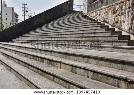 Let's climb stairs made of concrete. #1397457410