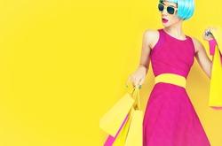 Let's go shopping.  Glamorous fashion lady