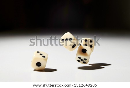 Let`s play a diced game. Dice in mid air #1312649285