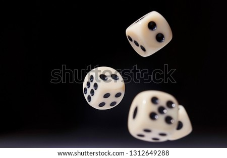 Let`s play a diced game. Dice in mid air #1312649288