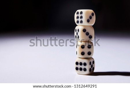 Let`s play a diced game. Dice in mid air #1312649291
