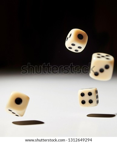 Let`s play a diced game. Dice in mid air #1312649294
