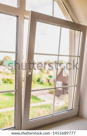 Let the fresh air into the house in the early morning - morning freshness - rest and housing in the countryside #1455689777