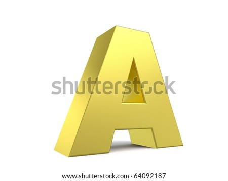 letter A from my golden collection
