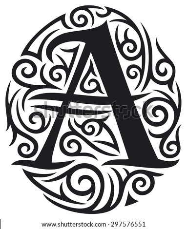 Letter A Tattoo Tribal Design 297576551