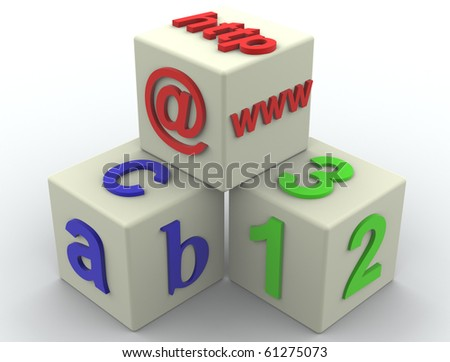 Letter and  Cube