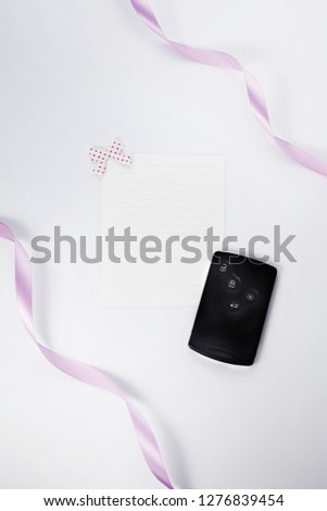 Letter and letter paper #1276839454