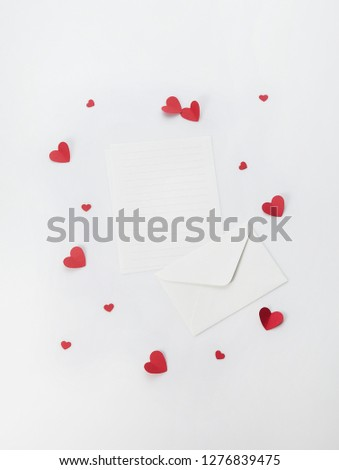 Letter and letter paper #1276839475