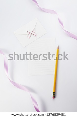 Letter and letter paper #1276839481