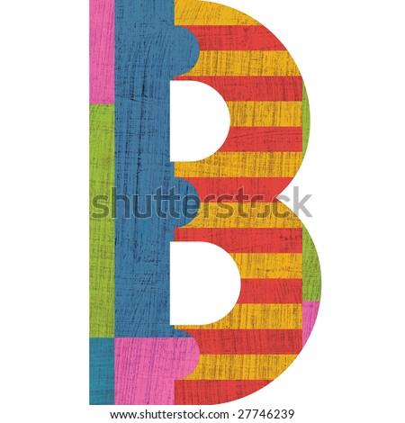 B alphabet symbol design  B Alphabet Design