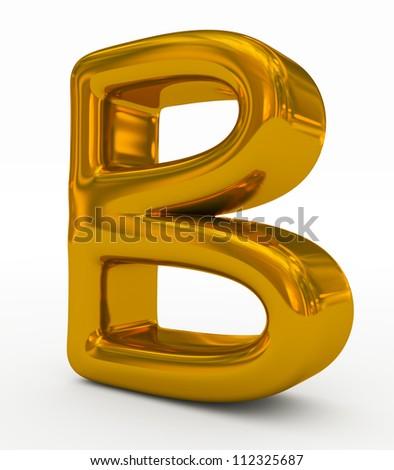 letter B golden